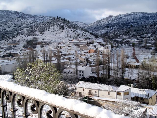 Salobre nevado, desde El Mirador